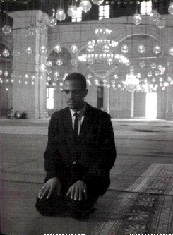 Malcolm X in prayer, Salah