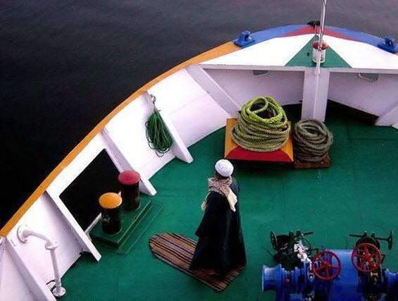 Muslim Prayer on Ship