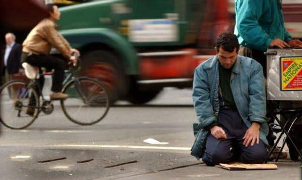 Muslim Prayer on Street