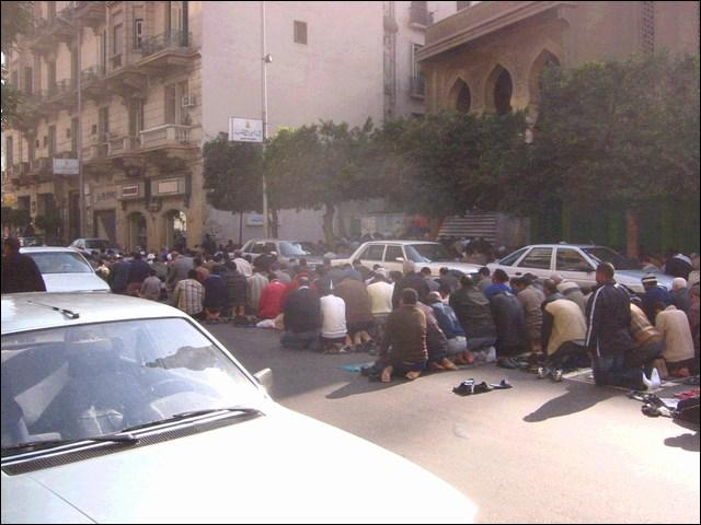 prayer salah on streets