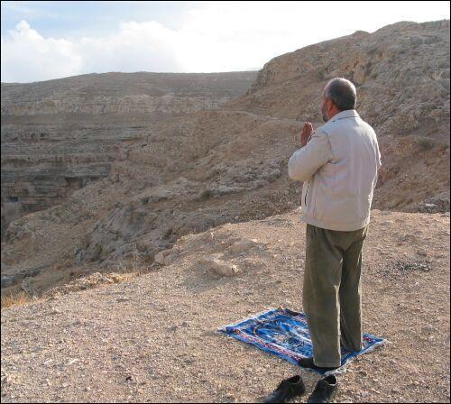 Prayer, Salah in desert