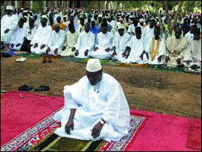 muslim prayer in aftica