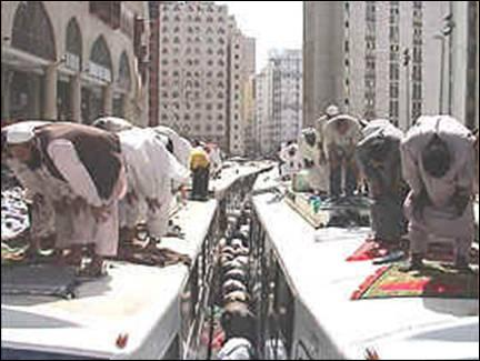 prayer salah on top of trains