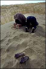 prayer salah on sand